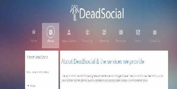 Ce site fournit de garder vos comptes sur les réseaux sociaux opérationnels après la mort